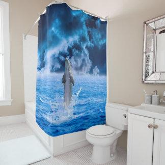 Delphin-Ozean-Sturm-Duschvorhang Duschvorhang