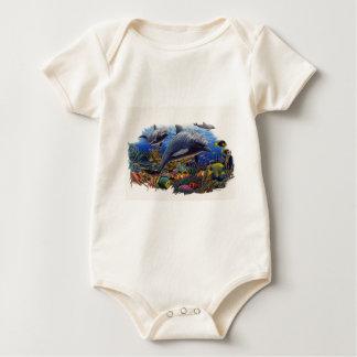 Delphin-Riff Wasser Baby Strampler