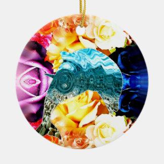 Delphin Rundes Keramik Ornament