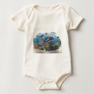 Delphin-Seetanz Baby Strampler