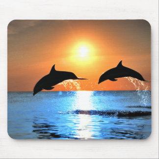 Delphin-Springen Mousepad