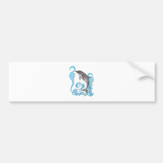 Delphin-Spritzen Autoaufkleber