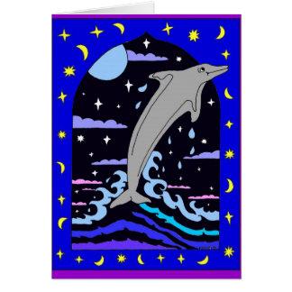"""Delphin """"Sprung für die Sterne"""" Karte"""