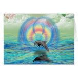 Delphin-Steigen Grußkarten