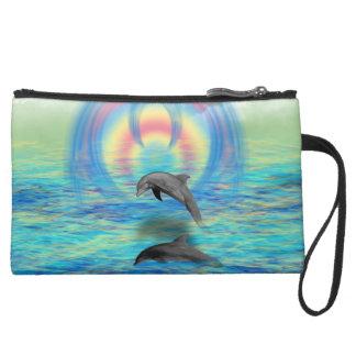 Delphin-Steigen Mini Velour Clutch