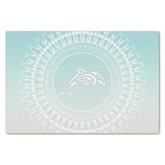 Delphin-Strand-Art-Mandala Seidenpapier