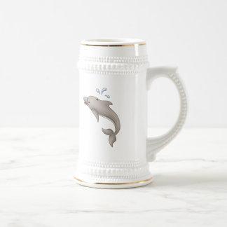 Delphin-Träume Bierglas