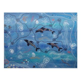 Delphin-Träumen Postkarten