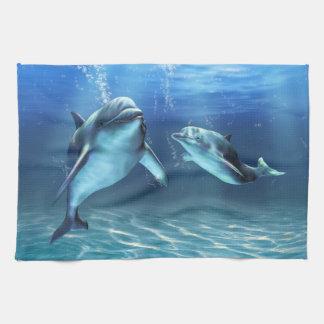 Delphin-TraumGeschirrtuch Handtuch