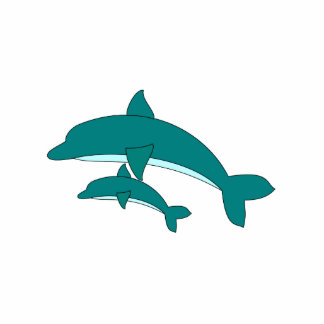 Delphin und Baby Fotofigur