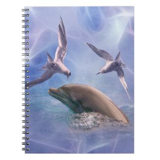 Delphin- und Tauchvögel Notizblock