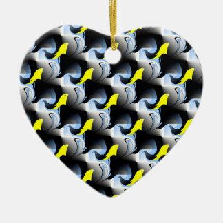 Delphin-und Vogel-Grafik Keramik Ornament
