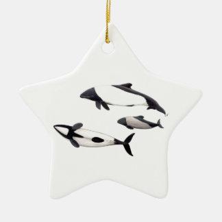 Delphin von Commerson Keramik Stern-Ornament