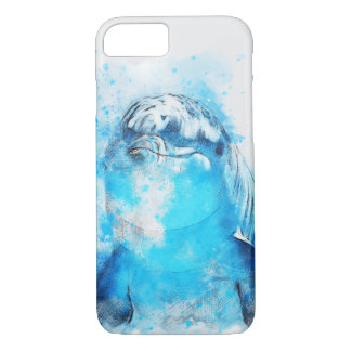 Delphin-Wasserfarbe-Entwurf iPhone 7 Fall iPhone 8/7 Hülle