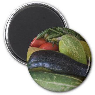 Delphin-Zucchini Runder Magnet 5,1 Cm