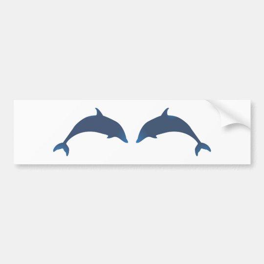 Delphine dolphins autoaufkleber