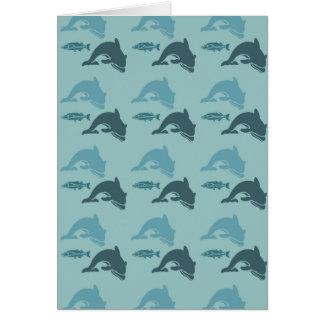 Delphine und Fische Karte