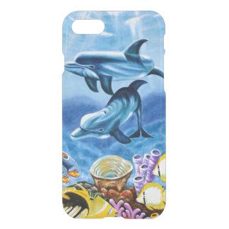 Delphine und tropische Fisch-Kunst iPhone 8/7 Hülle