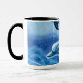 Delphine und tropische Fisch-Kunst Tasse