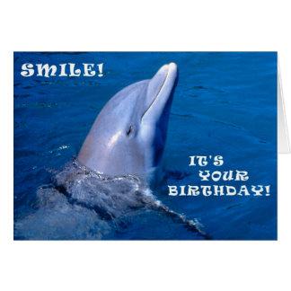 Delphingeburtstagslächeln Grußkarte