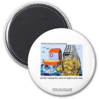 Delphinsicherer Tuba-lustiger Neuheits-Magnet Runder Magnet 5,7 Cm