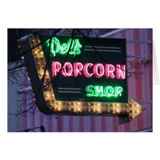 Dels Popcorn-Geschäft Karte