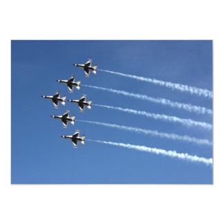 Deltabildung der Thunderbirds-F-16 12,7 X 17,8 Cm Einladungskarte