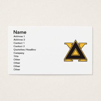 Deltachi-Abzeichen-Gold Visitenkarte
