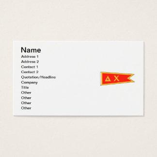 Deltachi-Flagge Visitenkarte