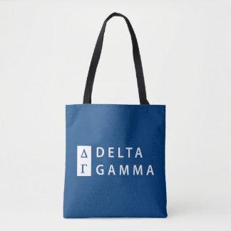 Deltagamma-| Staplungslogo Tasche