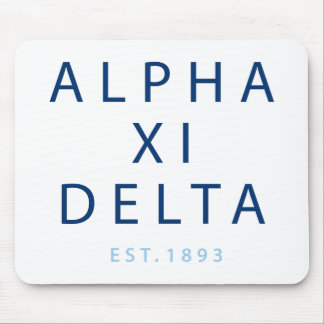 Deltamoderne Art des Alpha-XI Mousepad