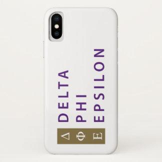 Deltaphi-Epsilon gestapelt iPhone X Hülle