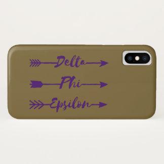 Deltaphi-Epsilon-Pfeil iPhone X Hülle