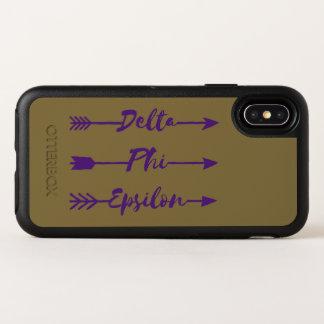 Deltaphi-Epsilon-Pfeil OtterBox Symmetry iPhone X Hülle