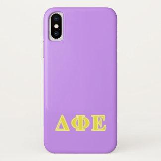 Deltaphi-gelbe Epsilonbuchstaben iPhone X Hülle