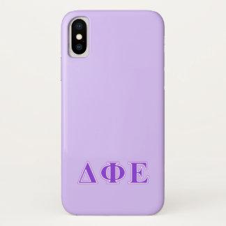 Deltaphi-Lila und Lavendel-Epsilonbuchstaben iPhone X Hülle