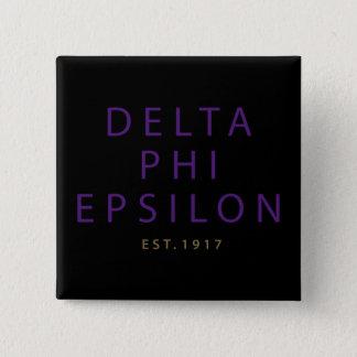 Deltaphi-moderne Epsilonart Quadratischer Button 5,1 Cm