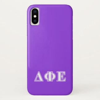 Deltaphi-weiße und lila Epsilonbuchstaben iPhone X Hülle