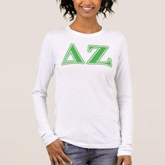 Deltazeta-Grün-Buchstaben Langarm T-Shirt