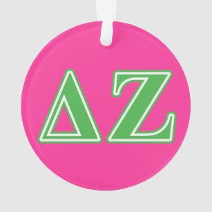Deltazeta-Grün-Buchstaben Ornament