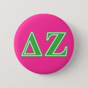Deltazeta-Grün-Buchstaben Runder Button 5,1 Cm