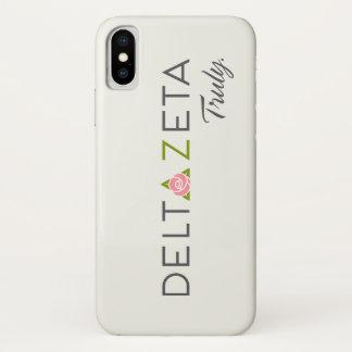 Deltazeta-Primärlogo mit Versprechen iPhone X Hülle