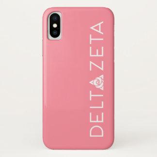 Deltazeta-Primärlogo-Weiß iPhone X Hülle