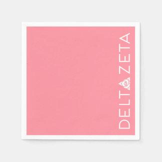 Deltazeta-Primärlogo-Weiß Papierservietten