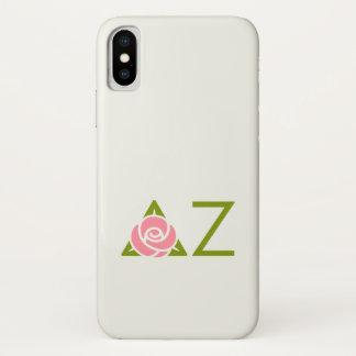 Deltazeta-Rosen-Ikone iPhone X Hülle