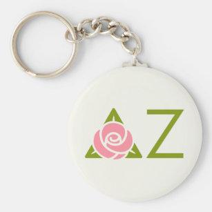 Deltazeta-Rosen-Ikone Schlüsselanhänger