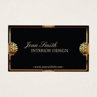Deluxe Goldrahmen-Innenarchitektur-Visitenkarte Visitenkarte