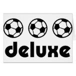 deluxe Ikone des Fußballs Grußkarte