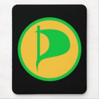 Deluxe Piraten-Party-Logo (sehen Sie Beschreibung) Mauspad