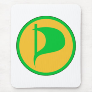 Deluxe Piraten-Party-Logo (sehen Sie Beschreibung) Mousepad